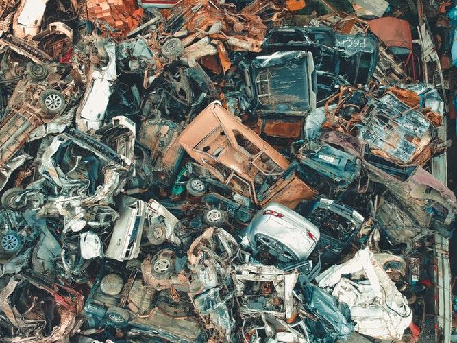 Scrap metal, junk yard. Useless material