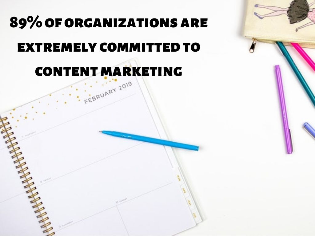 89% of organizations are extremely committed to content marketing. So should you