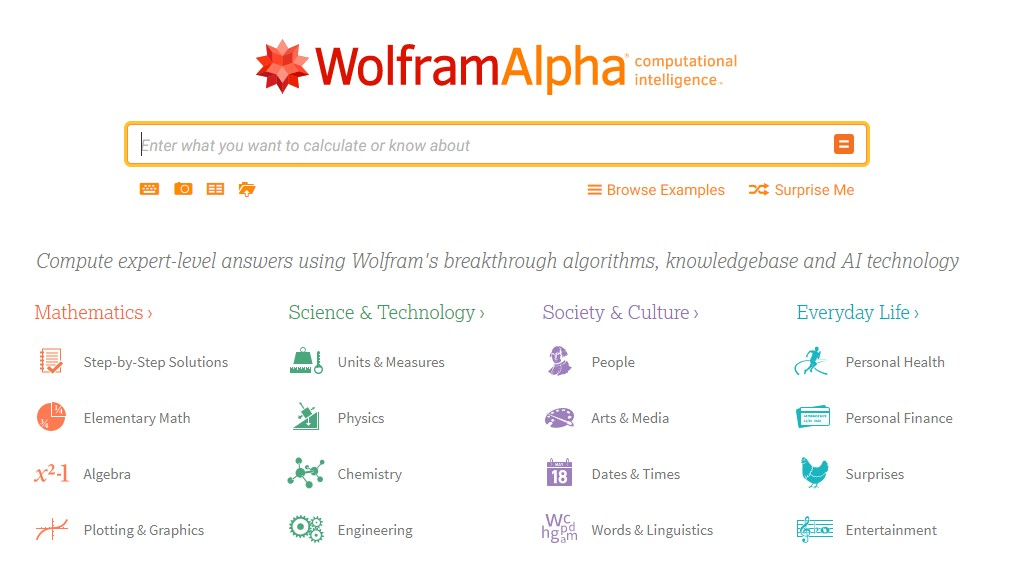 WolframAlpha, a breakthrough knowledge and data-based search engine based on topics