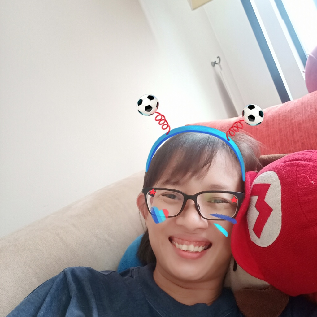 image of Marsha Maung on a weekend binge on the couch #lol