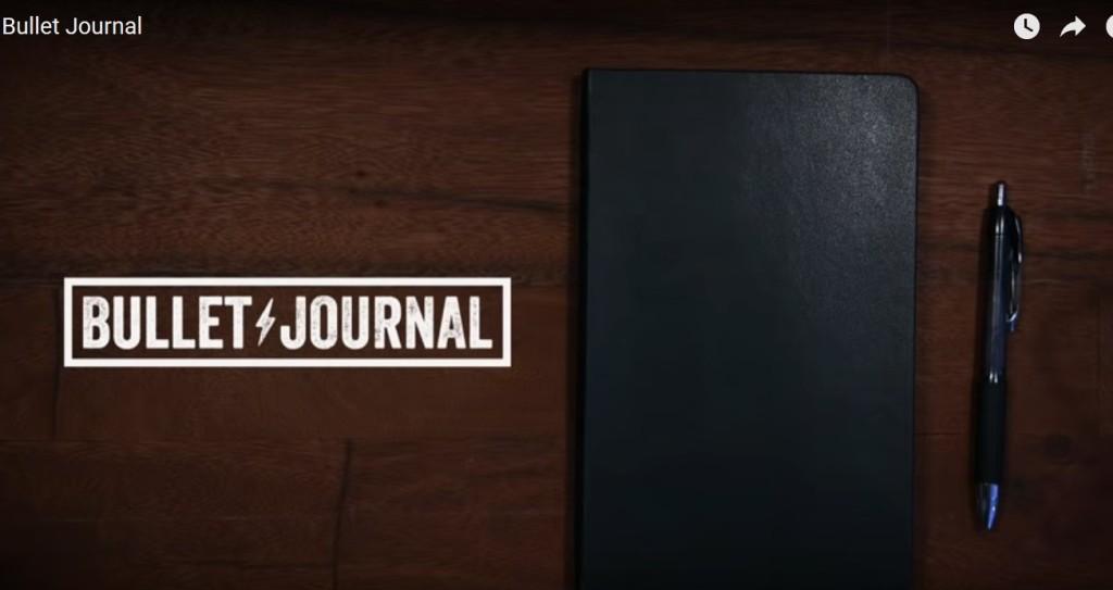 bullet journal from BulletJournal.com's Youtube video, screenshot