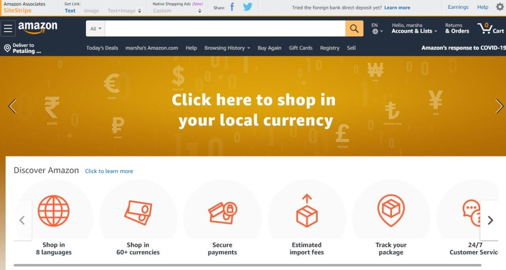 Amazon is one of the world's largest online marketplace