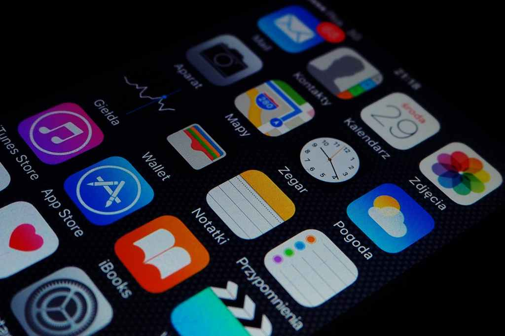 apps icons on a smartphone